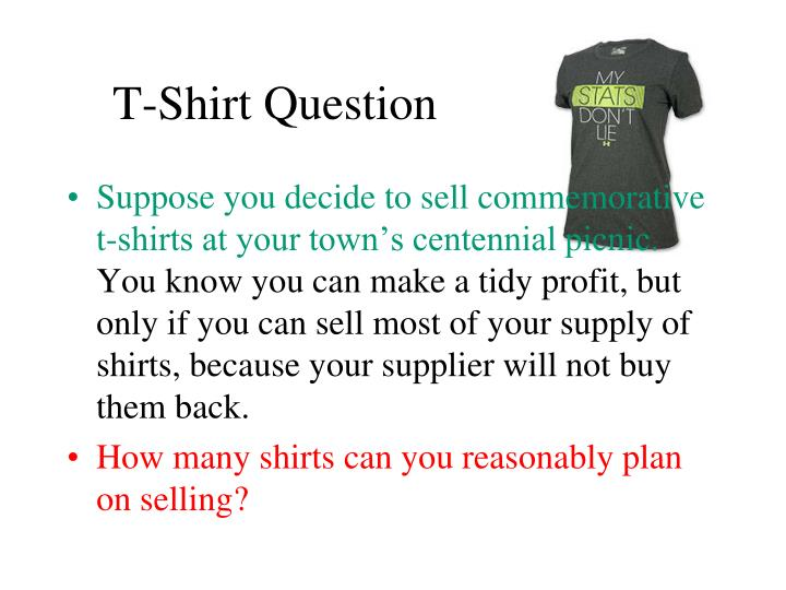 t shirt question n.