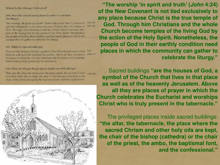 """The worship 'in spirit and truth' ("