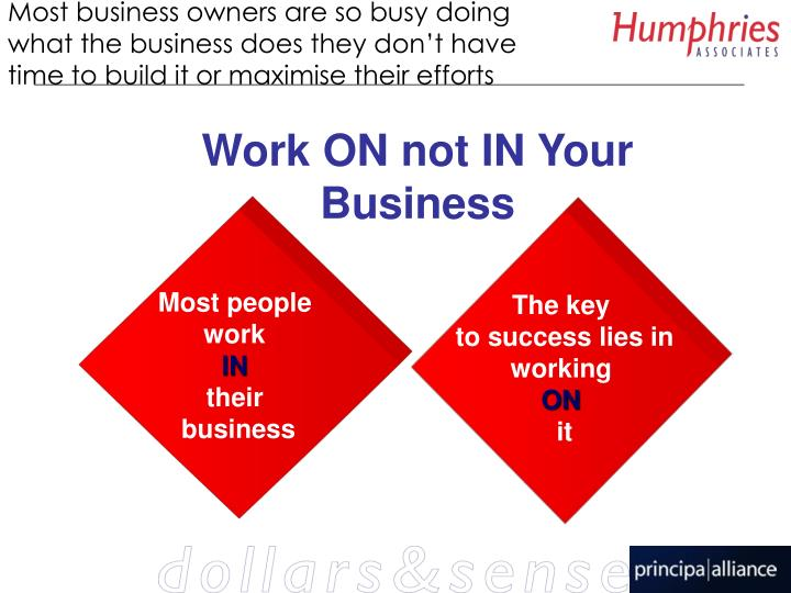 Most business owners are so busy doing what the business does they don't have time to build it or maximise their efforts
