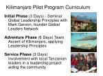 kilimanjaro pilot program curriculum