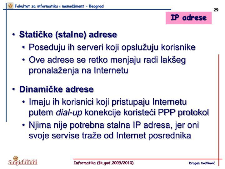 IP adrese