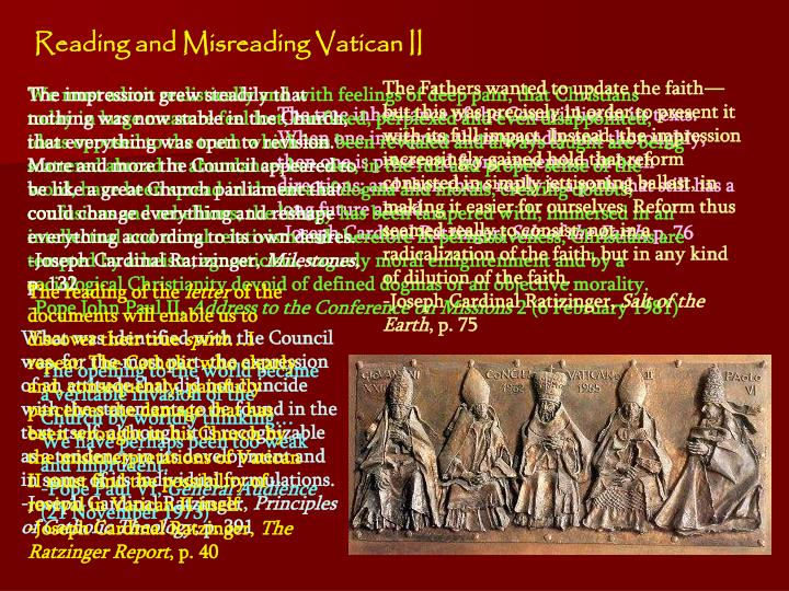 Reading and Misreading Vatican II
