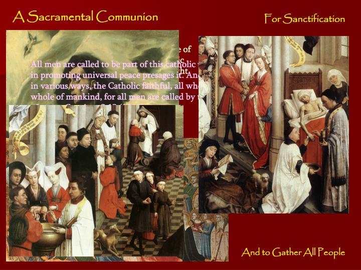 A Sacramental Communion