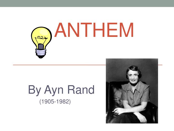 the absence of equality in anthem a book by ayn rand