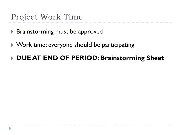 Project Work Time