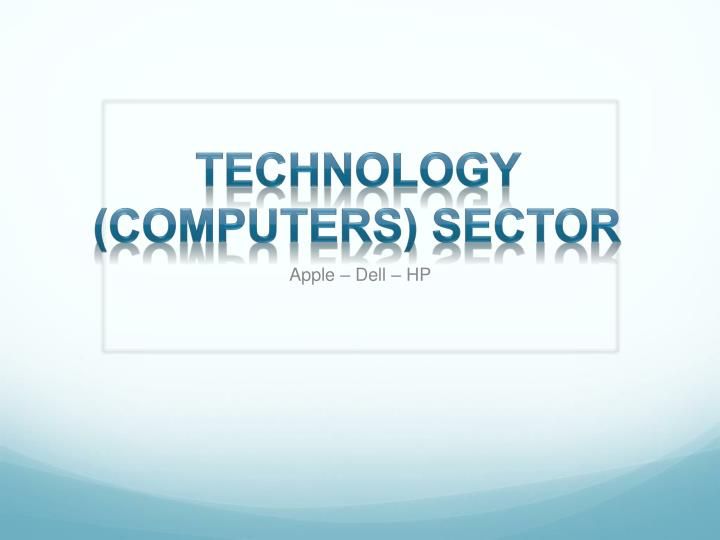 technology computers sector n.