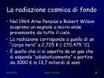 la radiazione cosmica di fondo