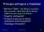 principio antropico e finalismo