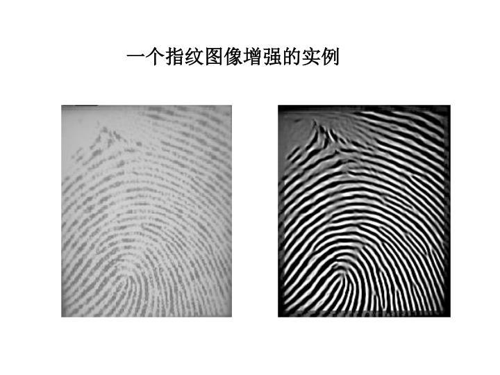 一个指纹图像增强的实例