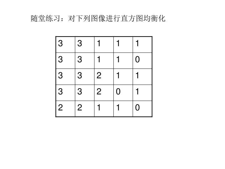 随堂练习:对下列图像进行直方图均衡化