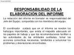 responsabilidad de la elaboraci n del informe
