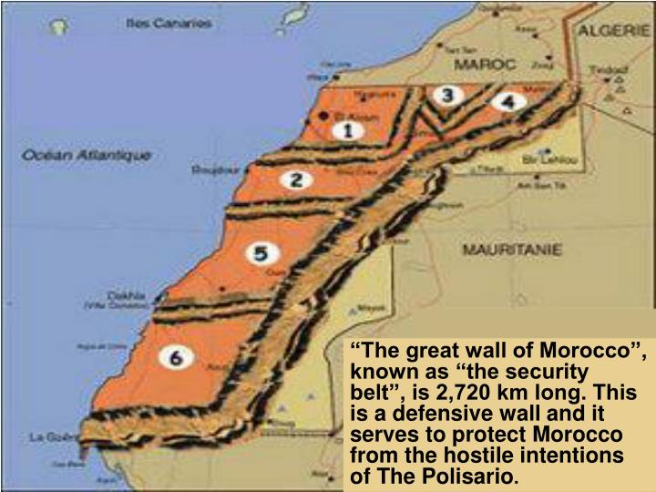 """""""The great wall of Morocco"""", known as """"the security belt"""", is 2,720 km long. This is a defen..."""