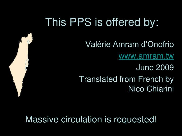 This PPS is offered by: