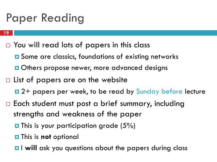 Paper Reading
