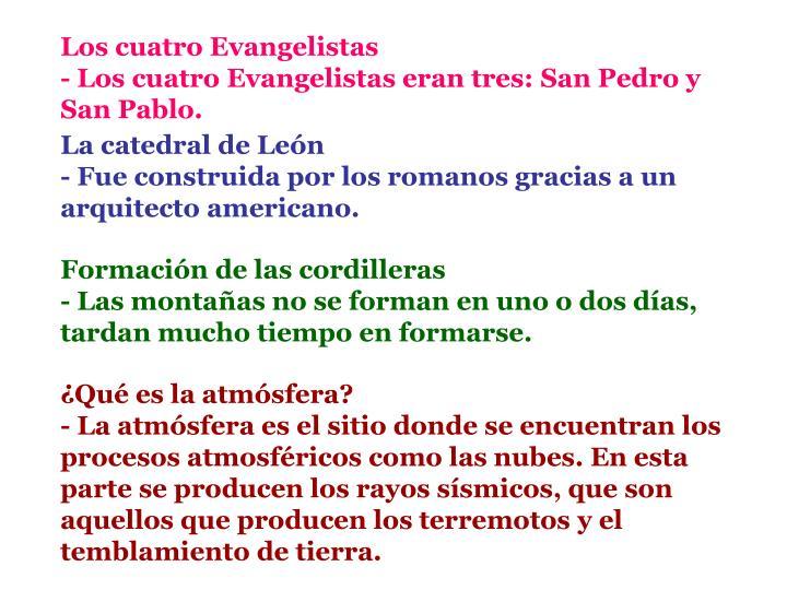 Los cuatro Evangelistas
