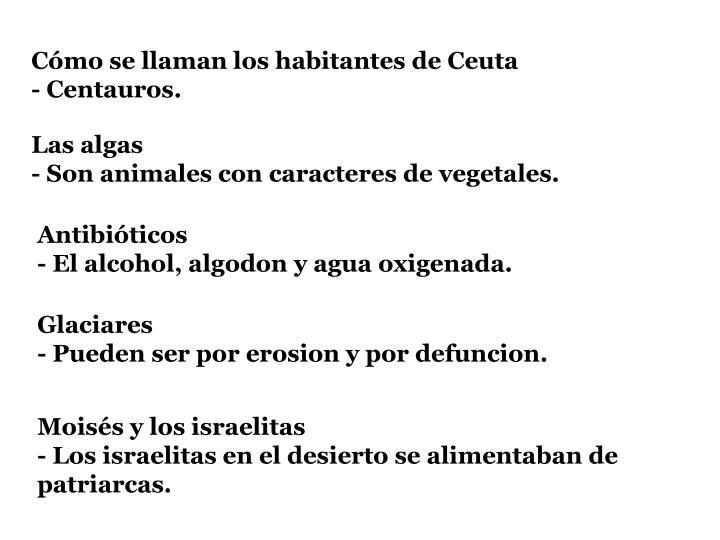 Cómo se llaman los habitantes de Ceuta