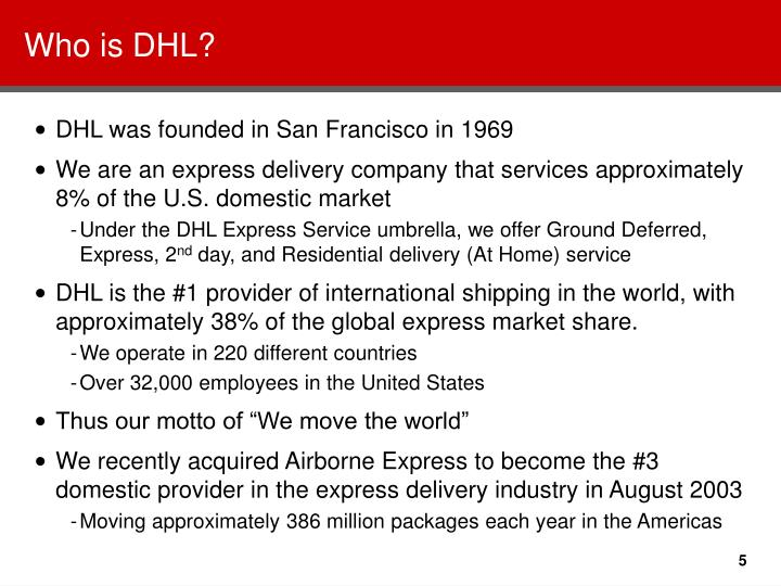 Who is DHL?