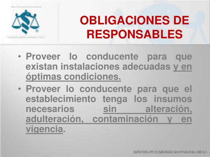 OBLIGACIONES DE