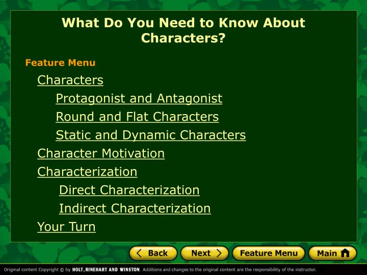 PPT What Do You Need To Know About Characters PowerPoint
