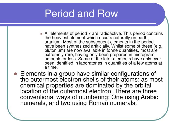 Period and Row