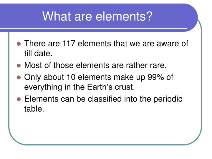 What are elements1