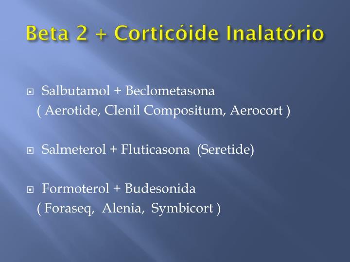 Beta 2 + Corticóide