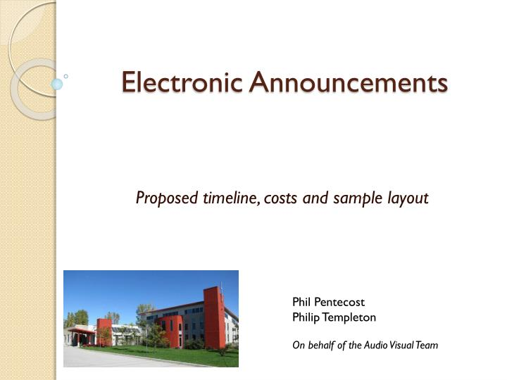 electronic announcements