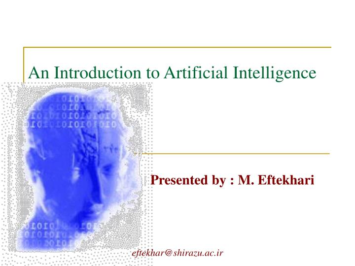 an introduction to artificial intelligence n.