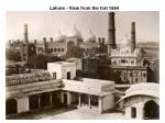 lahore view from the fort 1864