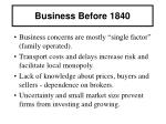 business before 1840