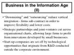 business in the information age ii
