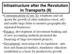 infrastructure after the revolution in transports ii