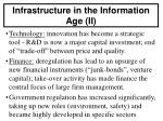 infrastructure in the information age ii