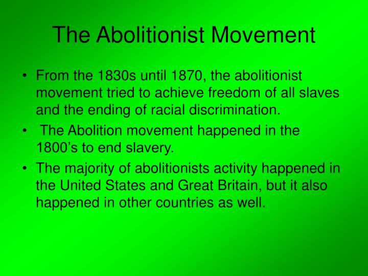 the feminist movement with the abolitionist movement essay The women movement has been divided into three phases by the feminist experts any opinions, findings, conclusions or recommendations expressed in this material are those of the authors and do not necessarily reflect the views of uk essays.