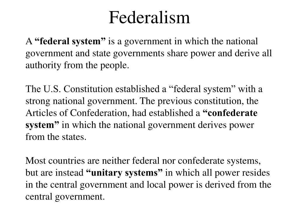 confederal system of government example