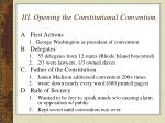 iii opening the constitutional convention