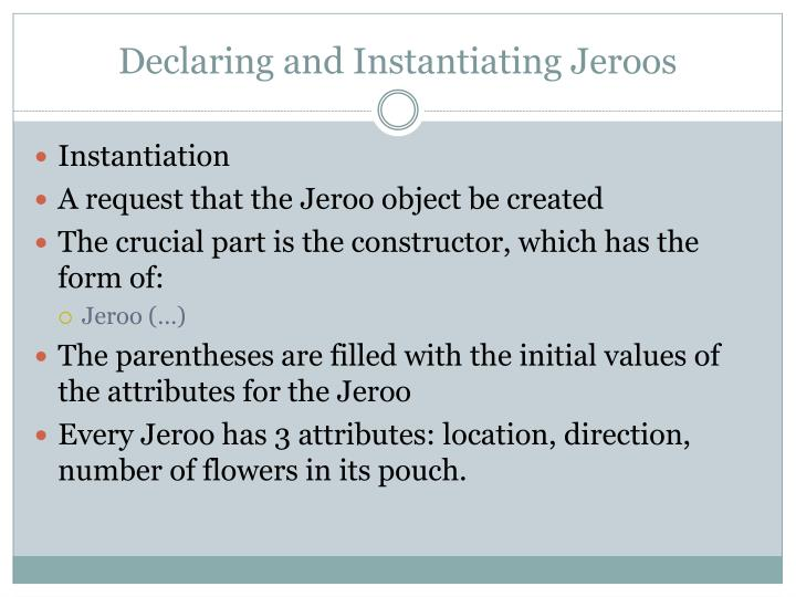 Declaring and Instantiating