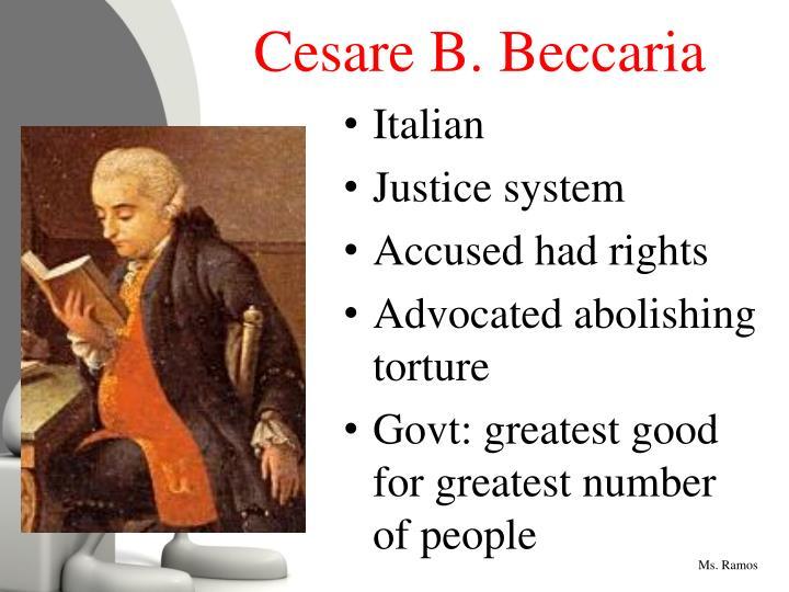 Cesare B. Beccaria