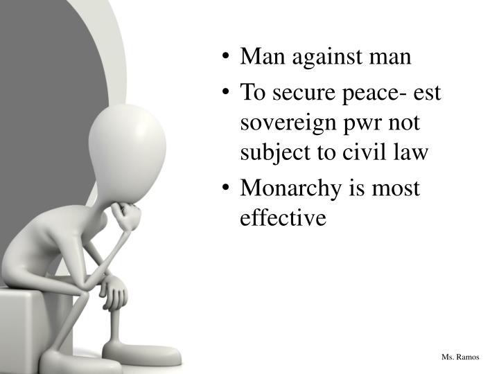 Man against man