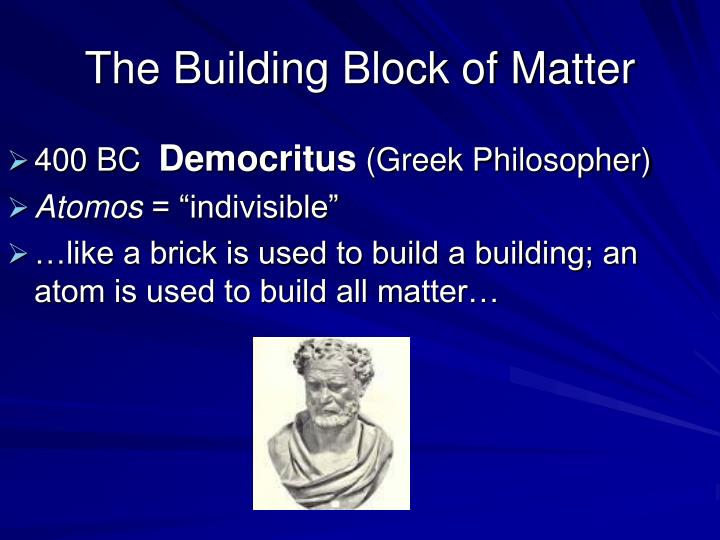 The building block of matter