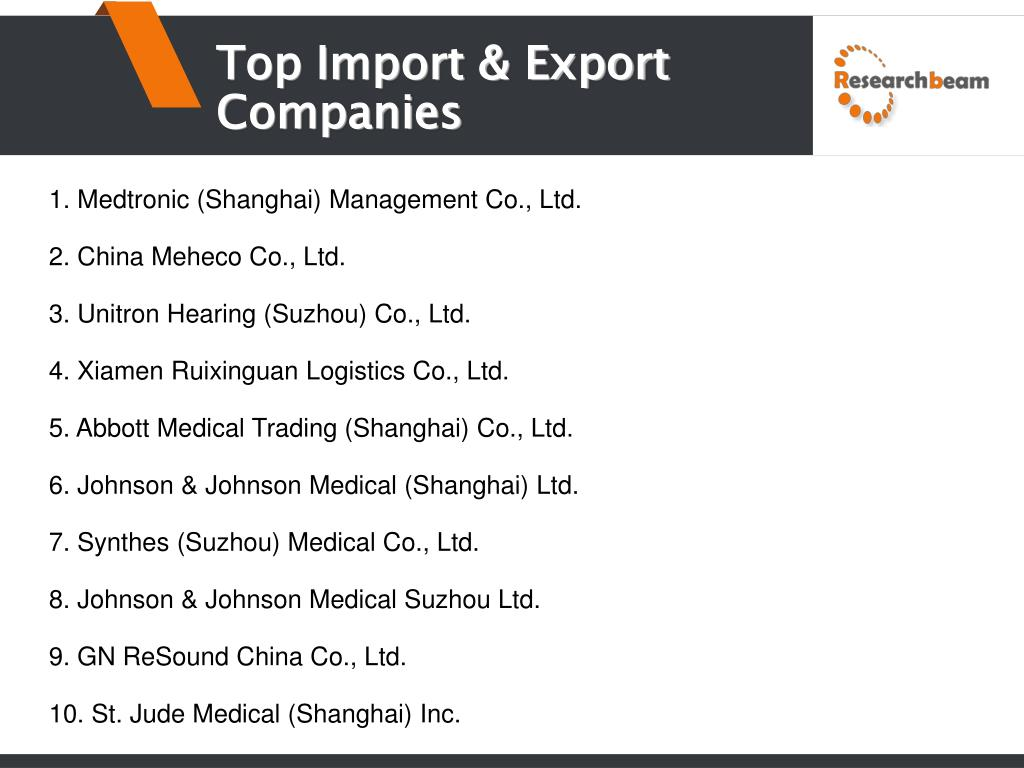 PPT - China Orthopedic Instrument Import and Export Market