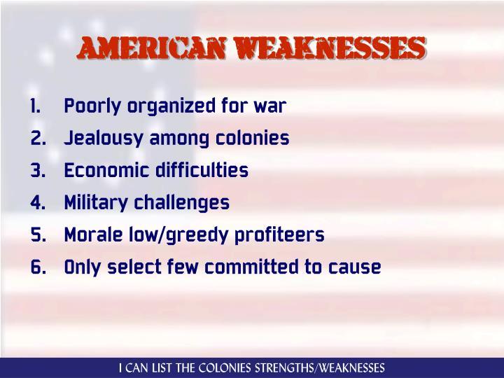 American weaknesses