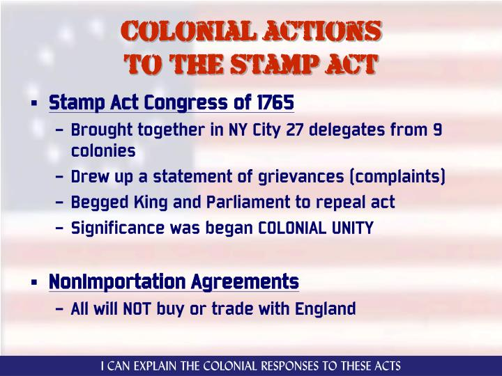 Colonial actions