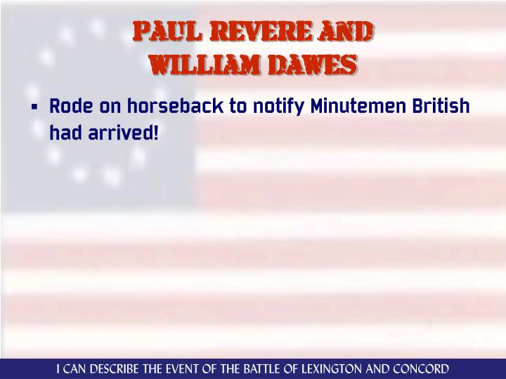 Paul revere and