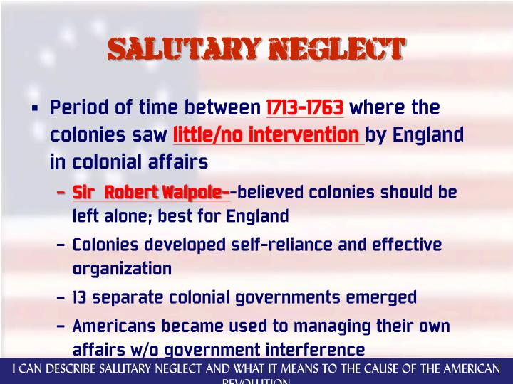 Salutary neglect