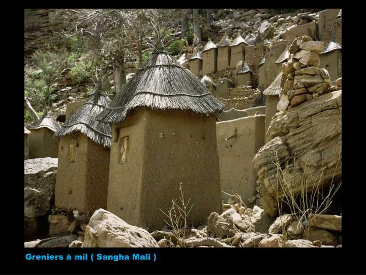 Greniers à mil ( Sangha Mali )