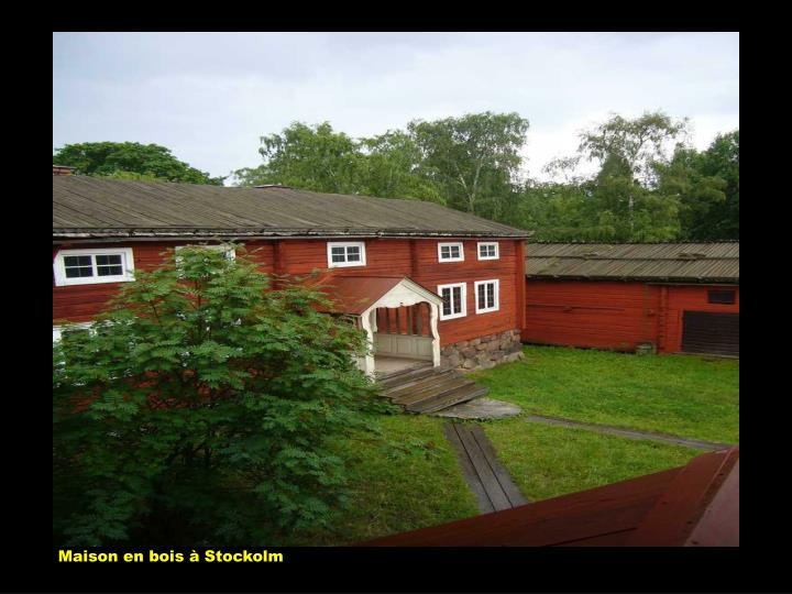 Maison en bois à Stockolm