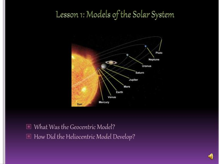 lesson 1 models of the solar system n.