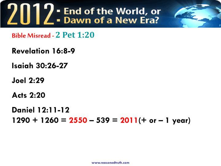 Bible Misread -