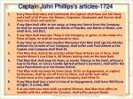 captain john phillips s articles 1724